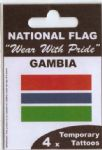 Gambia Country Flag Tattoos.